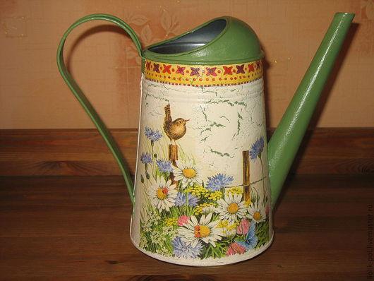 """Лейки ручной работы. Ярмарка Мастеров - ручная работа. Купить Лейка """" Полевые цветы"""". Handmade. Зеленый, ваза"""