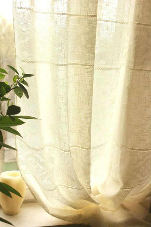 """Текстиль, ковры ручной работы. Ярмарка Мастеров - ручная работа. Купить Шторы льняные """"Белый лен"""". Handmade. Шторы"""