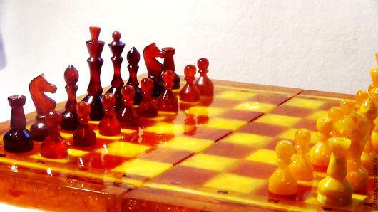 Настольные игры ручной работы. Ярмарка Мастеров - ручная работа. Купить Шахматы. Handmade. Янтарь, Шахматы ручной работы