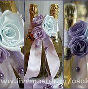 Свадебный салон ручной работы. Ярмарка Мастеров - ручная работа Украшение на шампанское. Handmade.