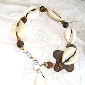 Украшения handmade. Livemaster - original item Anklet Tiger eye Mystic Coconut. Handmade.