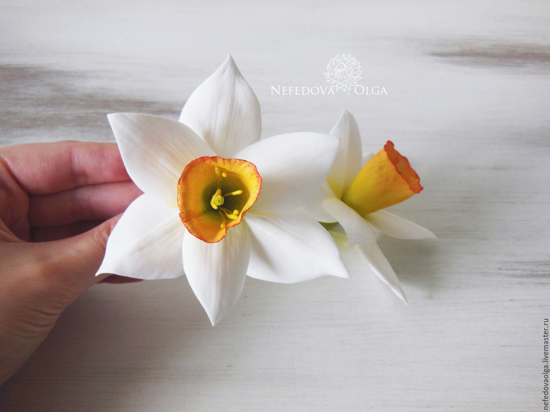 Цветы на заколку из фоамирана мастер класс с пошаговым