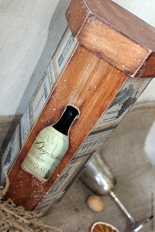 """Кухня ручной работы. Ярмарка Мастеров - ручная работа. Купить Короб для вина """"MIX"""". Handmade. Короб для вина, магазин антресоль"""