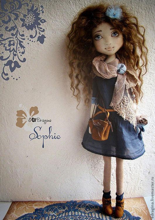 Коллекционные куклы ручной работы. Ярмарка Мастеров - ручная работа. Купить Софи. Handmade. Синий, бязь