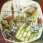 Посуда ручной работы. Ярмарка Мастеров - ручная работа Мыши на крыше. Handmade.