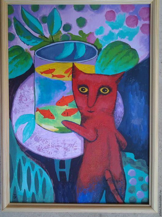 Символизм ручной работы. Ярмарка Мастеров - ручная работа. Купить воспоминание о матиссе. Handmade. Кот, котик, котенок, коты