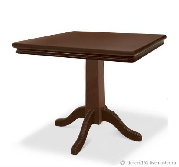 Стол обеденный квадратный из массива дерева. Лофт, Столы, Нижний Новгород, Фото №1