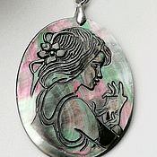 handmade. Livemaster - original item Pendant mother of pearl