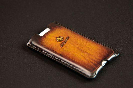 Для телефонов ручной работы. Ярмарка Мастеров - ручная работа. Купить Чехол для iPhone 7/7 plus/6/ 6s/6plus из Кожи Ручной работы № 18/123i. Handmade.