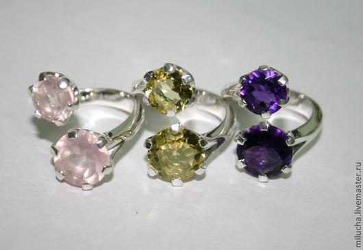 """Кольца ручной работы. Ярмарка Мастеров - ручная работа. Купить Кольцо """"Besos"""" серебро, камни. Handmade. Тёмно-фиолетовый"""