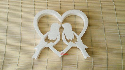 Другие виды рукоделия ручной работы. Ярмарка Мастеров - ручная работа. Купить Птички в сердце В17. Handmade. Пенопластовая основа