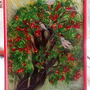 Картины и панно ручной работы. Ярмарка Мастеров - ручная работа Рябина под окном. Handmade.