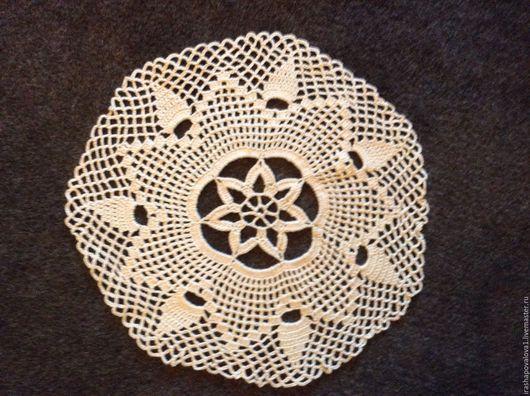 Текстиль, ковры ручной работы. Ярмарка Мастеров - ручная работа. Купить Салфетка Арабески. Handmade. Бежевый, салфетка, прованс