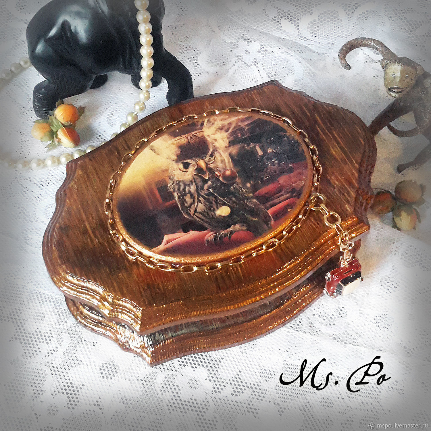 Trinket Boxes handmade. Livemaster - handmade. Buy Box 'Detective'.Gift, owls, a gift for any occasion