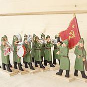 Военный оркестр. Красная армия. 14 фигурок