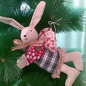 Куклы и игрушки ручной работы. Ярмарка Мастеров - ручная работа Зайцы аля винтаж. Handmade.