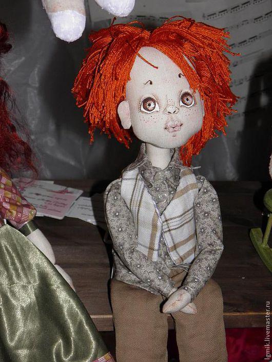 Коллекционные куклы ручной работы. Ярмарка Мастеров - ручная работа. Купить Рыжий. Handmade. Рыжий, кукла мальчик, текстиль