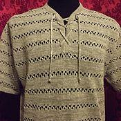 Одежда handmade. Livemaster - original item 100% linen men`s shirt. Handmade.