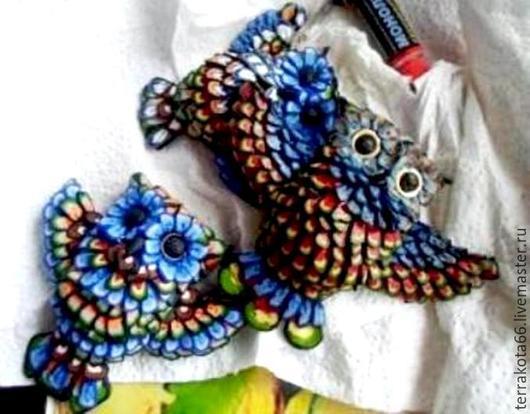 Броши ручной работы. Ярмарка Мастеров - ручная работа. Купить сова. Handmade. Разноцветный, брошь ручной работы, женщине, студент