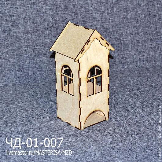 ЧД-01-007. Заготовка для декупажа чайный домик с окнами со всех сторон. Съемная крыша