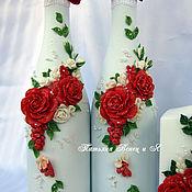 """Свадебный салон ручной работы. Ярмарка Мастеров - ручная работа Работа № 11 """"Алые розы"""". Handmade."""
