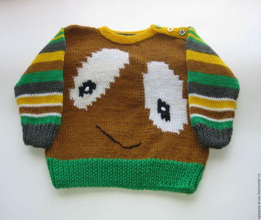 Одежда унисекс ручной работы. Ярмарка Мастеров - ручная работа. Купить Джемпер детский вязаный  Улыбка (на 1 год). Handmade.