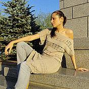 """Одежда ручной работы. Ярмарка Мастеров - ручная работа Платье вязаное """"Жара в городе"""". Handmade."""