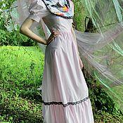 """Одежда ручной работы. Ярмарка Мастеров - ручная работа Платье """"Снегирь"""" на розовом. Handmade."""