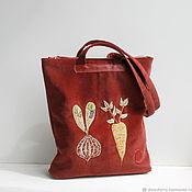 Classic Bag handmade. Livemaster - original item Copy of Textile bag with embroidery. The bag is summer female.. Handmade.