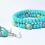 Украшения handmade. Livemaster - original item Gift set of turquoise and variscite