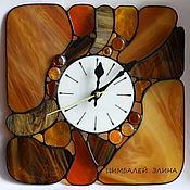 """Для дома и интерьера ручной работы. Ярмарка Мастеров - ручная работа Витражные часы """"Морские камушки"""". Handmade."""