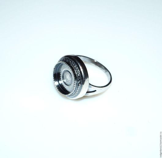 Для украшений ручной работы. Ярмарка Мастеров - ручная работа. Купить Основа для кольца круглая(12 мм) - серебрение 925 пробы. Handmade.