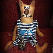 Куклы и игрушки ручной работы. Ярмарка Мастеров - ручная работа Котямбус морячок. Handmade.