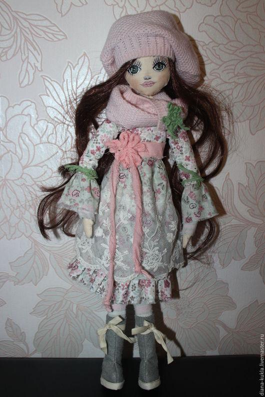 Коллекционные куклы ручной работы. Ярмарка Мастеров - ручная работа. Купить Нежная. Handmade. Мятный, фетр, авторская кукла, фетр
