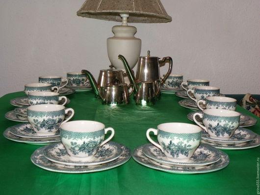 Винтажная посуда. Ярмарка Мастеров - ручная работа. Купить Англицкий чайный сервиз на 12 п. Фарфор Enoch Wedgwood +. Handmade.