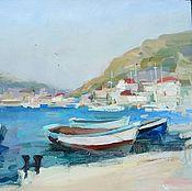 Картины и панно handmade. Livemaster - original item Oil painting.Pier. Balaclava. Crimea. Handmade.