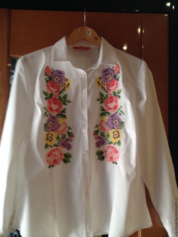 Машинная вышивка для блузок