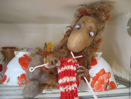 Сказочные персонажи ручной работы. Ярмарка Мастеров - ручная работа. Купить Нафаня - ааа !!! из мультика Кузя, чердачная кофейная игрушка. Handmade.