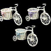 Кашпо плетеное Велосипед большой
