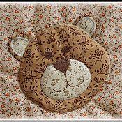 """Для дома и интерьера ручной работы. Ярмарка Мастеров - ручная работа Лоскутное одеяло """"Медвежата"""". Handmade."""