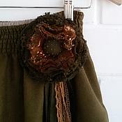 """Одежда ручной работы. Ярмарка Мастеров - ручная работа Юбочка в стиле бохо """"Болотная тропинка"""". Handmade."""