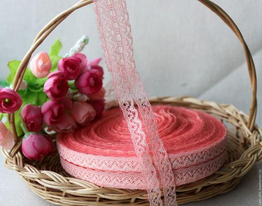 Шитье ручной работы. Ярмарка Мастеров - ручная работа. Купить Кружево розовое 2 см. Handmade. Тесьма для декора