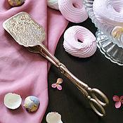 Винтаж handmade. Livemaster - original item Vintage Large Silver Plated Dessert Tongs England. Handmade.