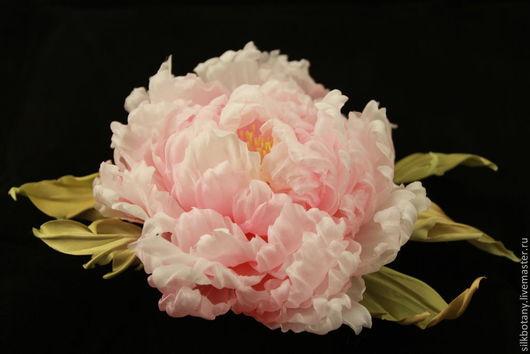 Цветы ручной работы. Ярмарка Мастеров - ручная работа. Купить Пион Винтаж. Handmade. Бледно-розовый, цветы из ткани