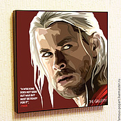 Картины и панно handmade. Livemaster - original item Picture poster Pop Art Thor Marvel. Handmade.