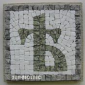 """Сувениры и подарки ручной работы. Ярмарка Мастеров - ручная работа """"Ять малая"""" - мозаичное панно 11х11 см. Handmade."""