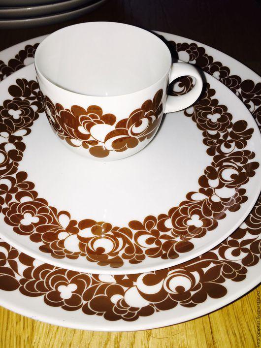 Винтажная посуда. Ярмарка Мастеров - ручная работа. Купить Винтажных немецкий Сервиз Rosenthal 70 годов. Handmade. Коричневый