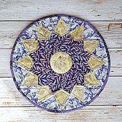 Для дома и интерьера handmade. Livemaster - original item Round patchwork napkin