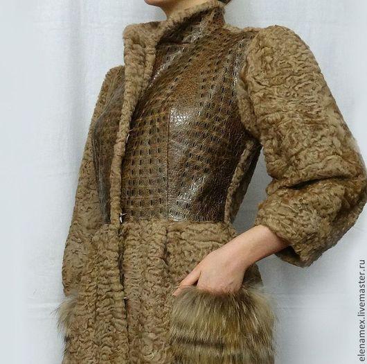 Верхняя одежда ручной работы. Ярмарка Мастеров - ручная работа. Купить Пальто из каракуля. Handmade. Купить шубу, пошив шубы