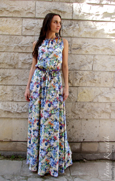 """Платья ручной работы. Ярмарка Мастеров - ручная работа. Купить Летнее платье """"Полевые цветы"""". Handmade. Платье, платье на выход"""